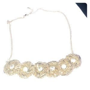 Gold and sparkly statement necklace